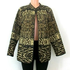 Catherines Reversible Quilted Light Jacket Animal